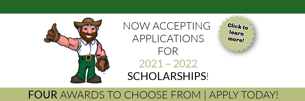 Now accepting applications for 2021 – 2022 scholarships, 4 awards to choose from